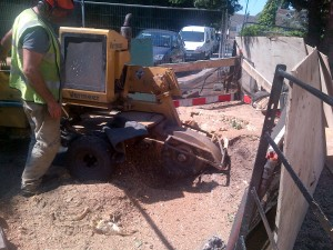 stump grinder machinery